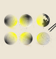 halftone sphere designs vector image vector image