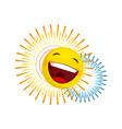 happy face icon vector image vector image
