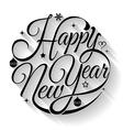 Happy new year text circle vector image vector image