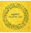 Happy Valentine Day Holiday Line Art Icons Set vector image vector image