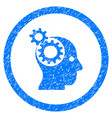 intellect gears rounded grainy icon vector image