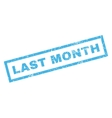 Last Month Rubber Stamp vector image vector image