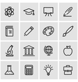 line education icon set vector image vector image