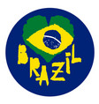 love brazil america vintage national flag in vector image