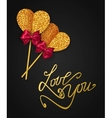 LOVE YOU - Valentines Day Greeting card Happy vector image vector image