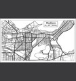 madison usa city map in retro style outline map vector image