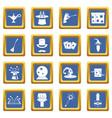 magic icons set blue vector image vector image