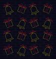 merry christmas wallpaper neon lights vector image vector image
