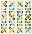 midcentury geometric retro pattern vintage colors vector image vector image
