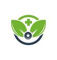modern natural health logo vector image vector image