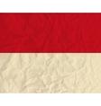 Monaco paper flag vector image vector image
