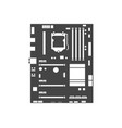 motherboard icon computer hardware equipment vector image vector image