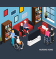 nursing home isometric composition vector image vector image