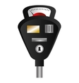 parking meter isolated icon vector image vector image