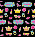 princess fashion embroidery seamless pattern vector image vector image