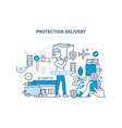 protection delivery guarantee of complete and vector image vector image