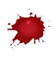 realistic blood splatters red ink splatters vector image vector image