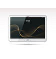 realistic white tablet pc computer vector image vector image