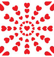 red heart round seamless pattern vector image vector image