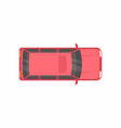 red minivan top view vector image vector image