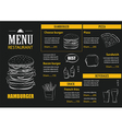 Restaurant cafe menu with hand drawn graphic vector image