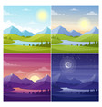 sea and mountains landscape flat vector image vector image
