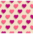 Seamless background Heart holiday of love vector image vector image