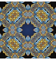 Seamless four corner carpet in blue ccolor vector image vector image