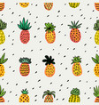 seamless sunny pineapple pattern decorative vector image