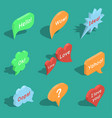 set of isometric speech bubbles vector image