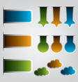 Set of ribbons and labels vector image vector image
