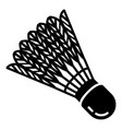 shuttlecock equipment icon simple style vector image vector image