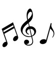 signs of a musical notation vector image