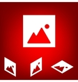 Simple web icon in image set Isometric vector image