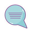 speech bubble comic talk chat icon vector image