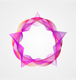 star with circle gradient rectangular frame vector image vector image