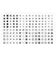 starburst sparkle star swirled element big set vector image