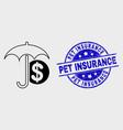 stroke financial umbrella icon and grunge vector image vector image