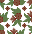 The pattern of leaves and flowers vector image