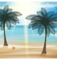 Tropical beach design template vector image