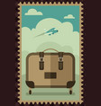 vintage travel luggage poster vector image
