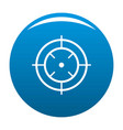 watching of radar icon blue vector image vector image