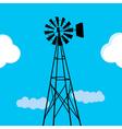 Water pumping windmill vector image vector image