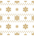 winter white background with gold snowflakes for vector image vector image