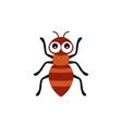 with cartoon ant isolated on white vector image