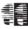 butcher knife silhouette sharp vector image
