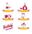 Labels set of drinks for restaurant and cafe vector image