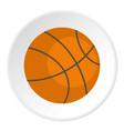 orange basketball ball icon circle vector image