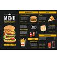 restaurant cafe menu graphic template flat design vector image