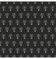 Seamless dark pattern white light bulbs on black vector image